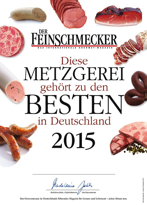 Feinschmecker 2015 Beste Metzgerei