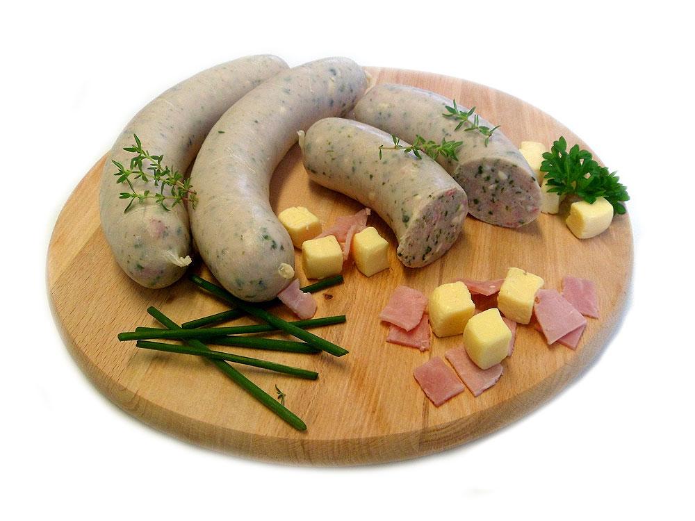 Grillwurst mit Spinat