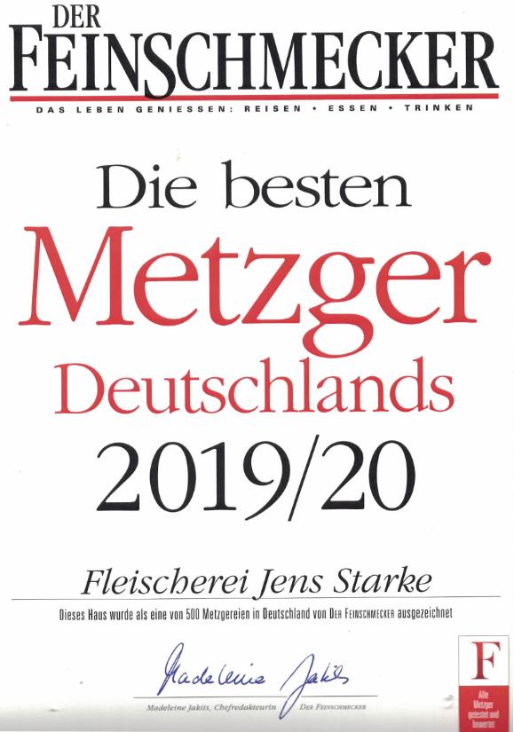 Auszeichnung Bester Metzger Deutschlands